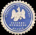 Siegelmarke Königlich Preussische Bezirkskommando - Aurich W0217580.jpg