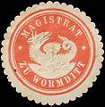 Siegelmarke Magistrat zu Wormditt W0386495.jpg