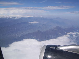 Sierra Madre Oriental - View from an airplane crossing Cerro San Rafael