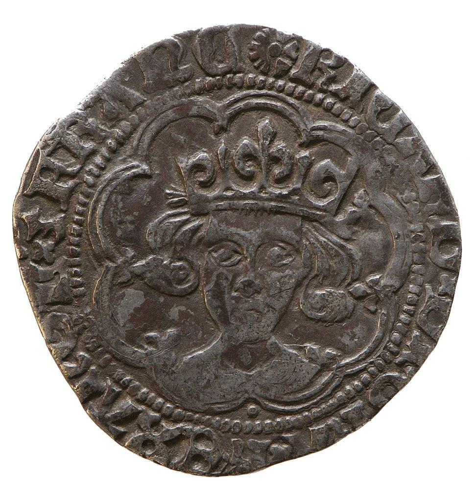 Silver groat of Richard III (YORYM 1980 846) obverse