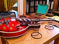 Silvertone 1485 (or 1454-1) - Scott's setup, bfor recording session.jpg