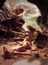 Edward Poynter:The Cave of the Storm Nymphs