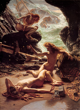 Nymph - The Cave of the Storm Nymphs by Sir Edward John Poynter