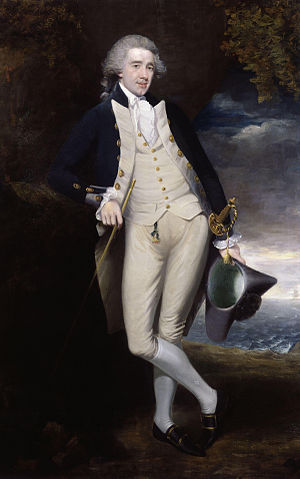 Home Riggs Popham - 1783 portrait in the uniform of a lieutenant, by an unknown artist
