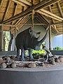Skukuza Airport Rhino Statue.jpg