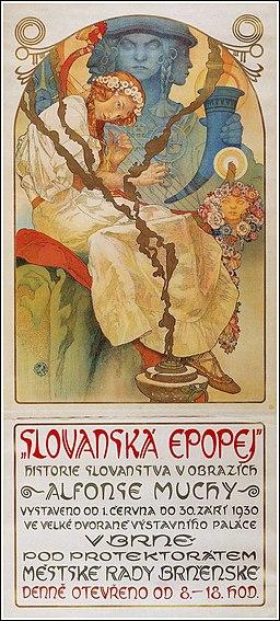 Slav Epic poster - Alfons Mucha