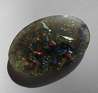 Slocum stone synthetically grown opal
