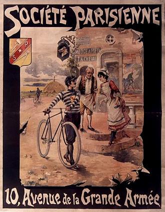 Société Parisienne - Société Parisienne poster, 10 avenue de la Grande Armée. Circa 1895.