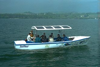 Electric boat - A solar passenger boat, Switzerland, 1995