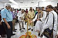 Somendranath Bandyopadhyay Lighting Lamp - Opening Ceremony - 1st Four Ps Group Exhibition - Kolkata 2019-04-17 5382.JPG