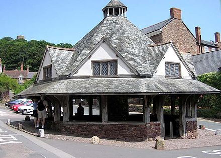 The Dunster Yarn Market was built in 1609 for the trading of local cloth. Somerset.dunster.arp.750pix.jpg