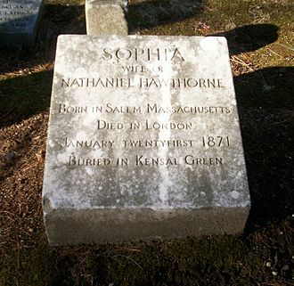 Sophia Hawthorne - Grave of Sophia Hawthorne in Sleepy Hollow Cemetery