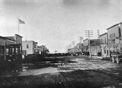 Main Street in Souris circa 1906