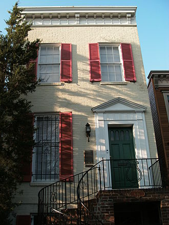 "John Philip Sousa - Sousa's birthplace, still standing on G St., S.E., in Washington, D.C. is currently owned by a member of ""The President's Own"" U.S. Marine Band"