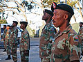 South African National Defense Force soldiers stand at attention during a rehearsal for exercise Shared Accord 2013 in Port Elizabeth, South Africa, July 21, 2013 130721-A-FP002-008.jpg