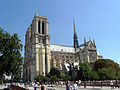 South facade of Notre-Dame de Paris, 6 August 2009.jpg
