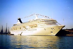 MV Artania - Artania as the Royal Princess on her maiden voyage.