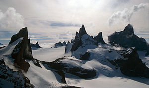 Queen Maud Land - The Drygalski Mountains, a constituent range of the Orvin Mountains