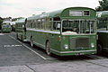 Southern Vectis NBC bus 812 Bristol RE ECW LDL 933G in Ryde depot, Isle of Wight August 1979.jpg