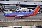 Southwest Airlines, Boeing 737-7H4(WL), N447WN - SEA (21878362882).jpg