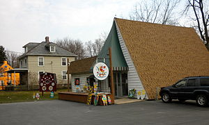 Hex sign - Souvenir shop in Lancaster County selling hex signs