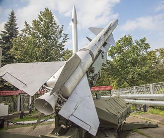 1960 U-2 incident - Soviet C-75 (SA-2) SAM launcher used to shoot down Gary Powers' U2, on display at the Air Defense Forces Museum in Balachinka district, Zarya village