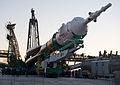 Soyuz TMA-07M rocket erection 1.jpg