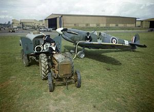 761 Naval Air Squadron - A Spitfire Ia of 761 NAS at RNAS Yeovilton during 1943.