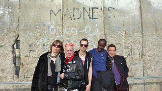 Spizzenergi - The band in 2013 (l-r): Luca Comencini, Spizz, Ben Lawson, Jeff Walker, Phil Ross