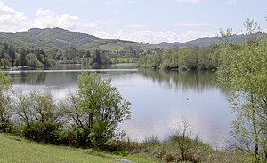 Spring Lake Regional Park - The reservoir, viewed from the north.