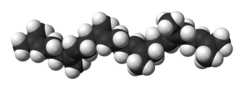 Spacefill model of squalene