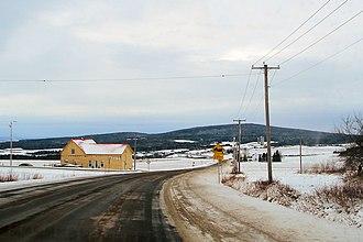 Quebec Route 141 - Route 141 at St-Herménégilde