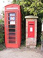 St.James Street Dunwich,Telephone Box and George VI Postbox - geograph.org.uk - 1448804.jpg