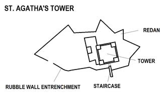 Saint Agatha's Tower - Image: St. Agatha's Tower map