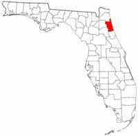 佛罗里达州圣约翰斯县地图