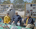 St Joseph Peninsula Turle Patrol With Endangered Whooping Crane Costume On St Vincent Refuge During Open House By Teresa Darragh.jpg