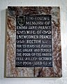 St Mary's Church, Stapleford Tawney, Essex, England ~ Emma Jane Prance wall memorial.jpg