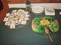 St Pats Metairie 2013 Treats King Cake Sliced.JPG
