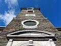 Stadtkirche Monschau Schaufassade des Turmes.JPG
