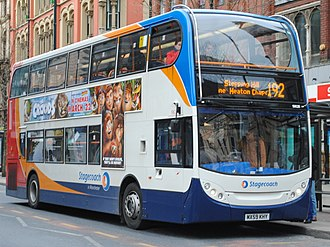 Stagecoach Manchester - Alexander Dennis Enviro400 on route 192 in Manchester in April 2009