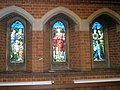 Stained glass windows on the south wall at St Matthew's, Worthing - geograph.org.uk - 1712355.jpg