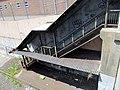 Staircase at former Salem station, May 2012.JPG