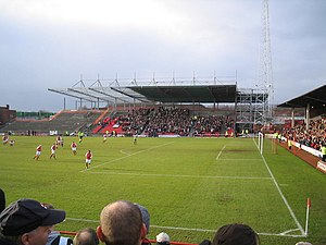 Millmoor - Stand under construction in 2005