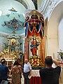 Statua del Santo Salvatore in chiesa nei giorni di festa 2017.jpg