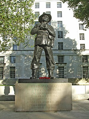 Statue of Field Marshal the Viscount Slim, Whitehall, London - geograph.org.uk - 306863.jpg