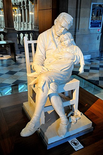 George Anderson Lawson - Image: Statue of a motherless girl and her father. George Anderson Lawson, 19th century. The Kelvingrove Art Gallery and Museum, Glasgow, UK