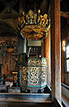 Stave church Lom, pulpit.jpg
