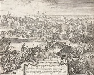 Battle of Steenbergen (1583) - The Battle of Steenbergen, engraving by Juan de Ledesma and Romeyn de Hooghe (1670–1699).  National Library of the Netherlands.