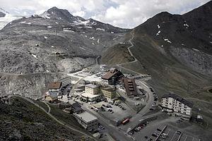 Piz da las Trais Linguas - View of Stelvio Pass from the summit