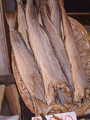 Stockfish - Stockfish from cod in Venice, Italy